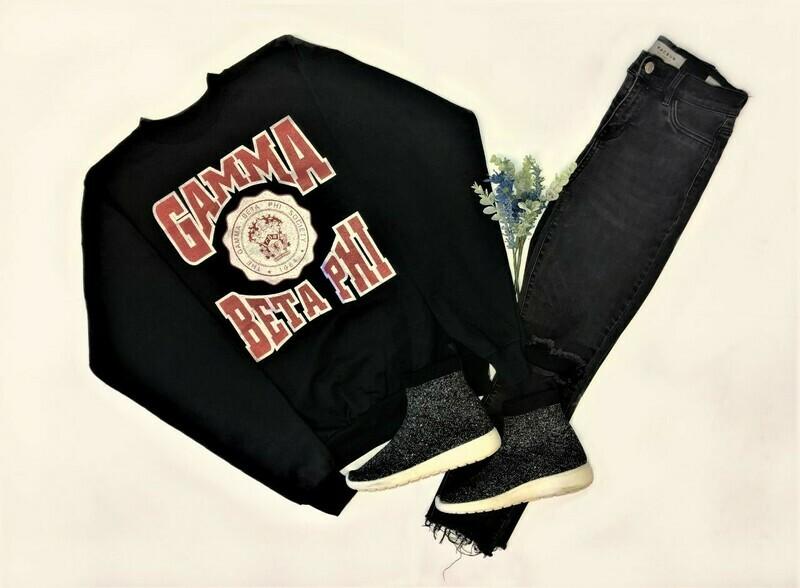 Gamma Beta Phi Unisex Black Sweatshirt