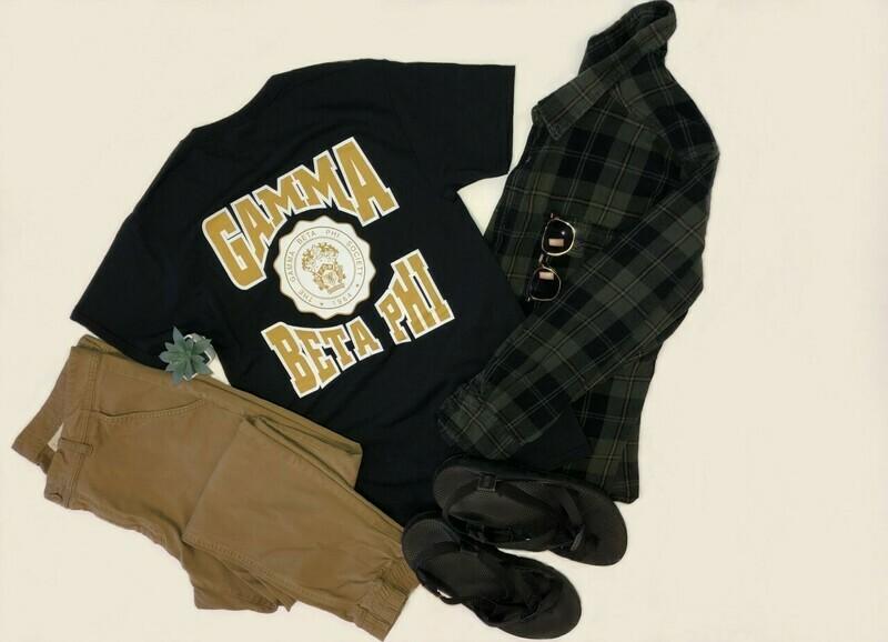 Gamma Beta Phi Unisex Black T-shirt