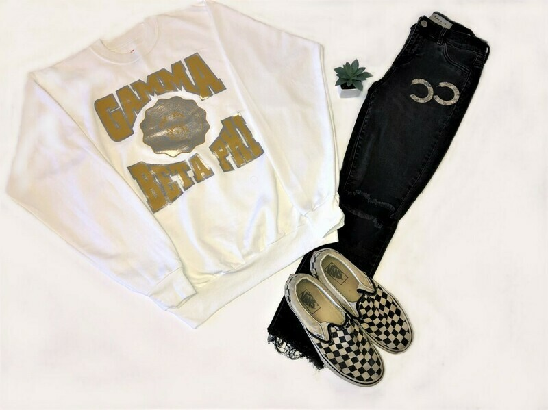 Gamma Beta Phi Unisex White Sweatshirt