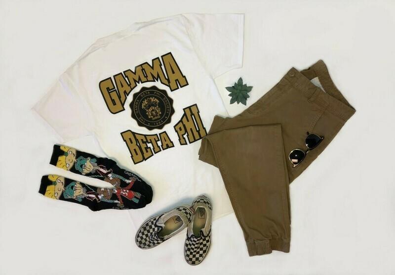 Gamma Beta Phi Unisex White T-shirt