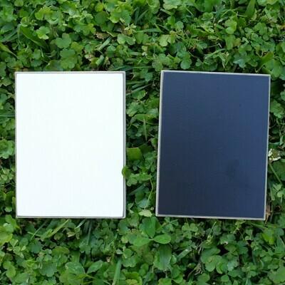 White/Black Laminated Plywood Sample