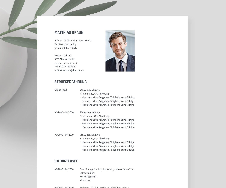 Bewerbungsvorlage »LIBERO« inklusive eBook und Videoanleitungen   Für Word, Pages, OpenOffice und LibreOffice