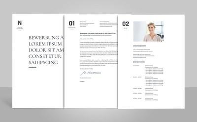Bewerbungsvorlage Onorio inklusive Anleitungen (für Word, OpenOffice und Google Docs)