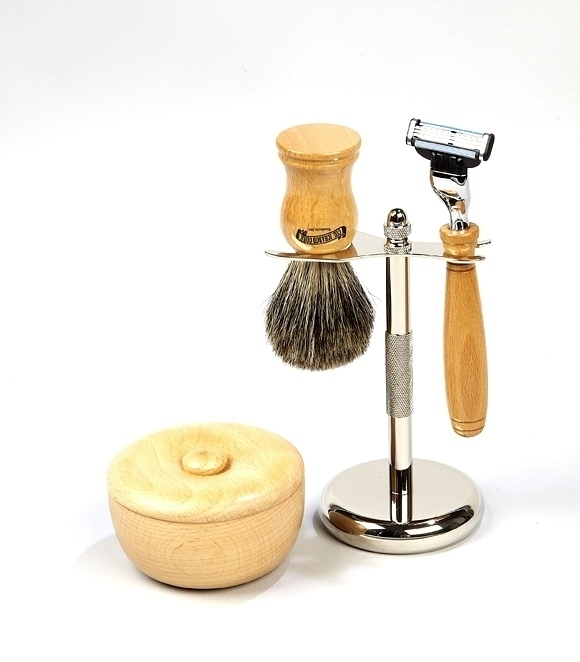 5PC. BEECHWOOD SHAVE SET #21