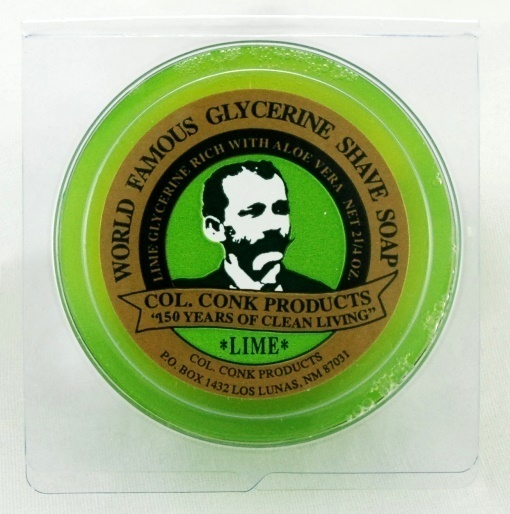 COL CONK LIME GLYCERINE SHAVE SOAP  #122