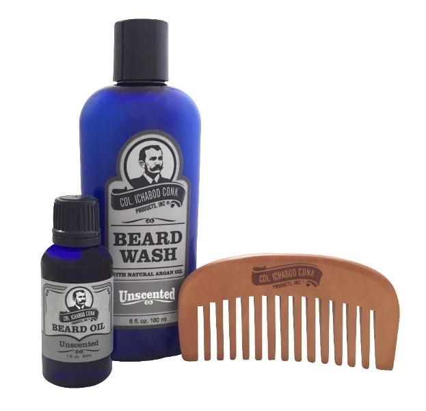 Col Conk Unscented Beard Kit with small comb #4044