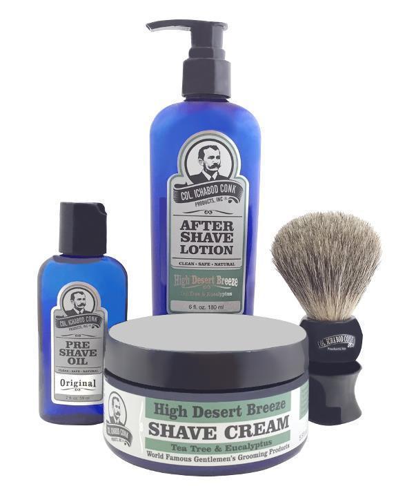 HIGH DESERT BREEZE 4PC SHAVE KIT with Cream & Brush #4013