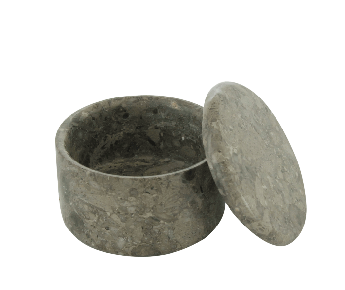 SMALL COVERED MARBLE BOWL in Stone Color #165S