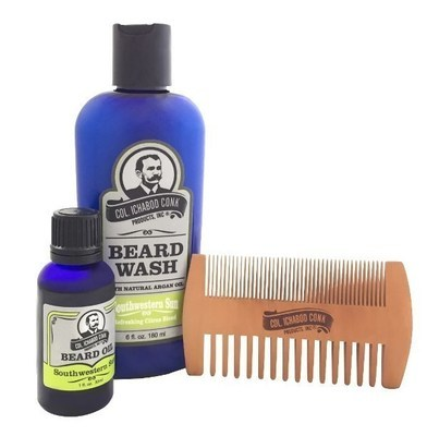 SOUTHWESTERN SUN BEARD KIT - with 2 sided comb #4052