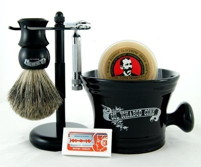 DE SHAVE SET 6PC. with HD Safety Razor #295