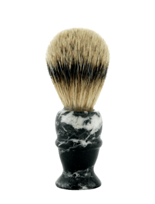 PURE BADGER SHAVE BRUSH, BLACK MARBLE HANDLE  #160MB