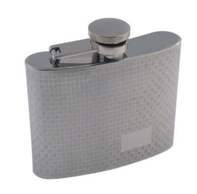 WOVEN PATTERNED 5 OZ. FLASK  #900