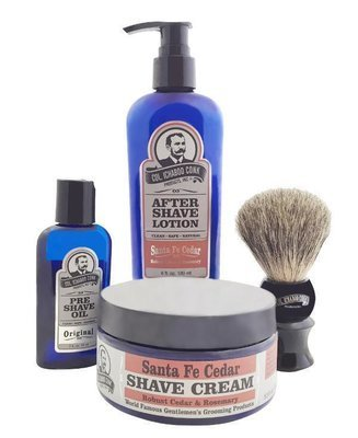 SANTA FE CEDAR 4PC SHAVE KIT with Cream & Brush #4011