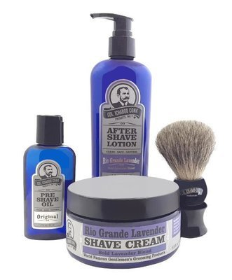 RIO GRANDE LAVENDER 4PC SHAVE KIT with Cream & Brush #4010