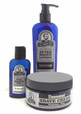 UNSCENTED SHAVE KIT with Cream #4034