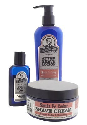 SANTA FE CEDAR SHAVE KIT with Cream #4031
