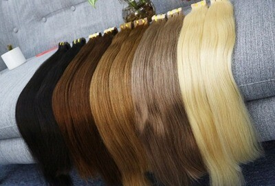 Remy Clip blond hair