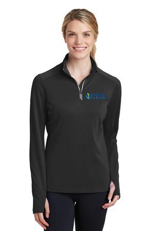 Sport-Tek® Ladies Sport-Wick®  1/4-Zip Pullover. LST850.