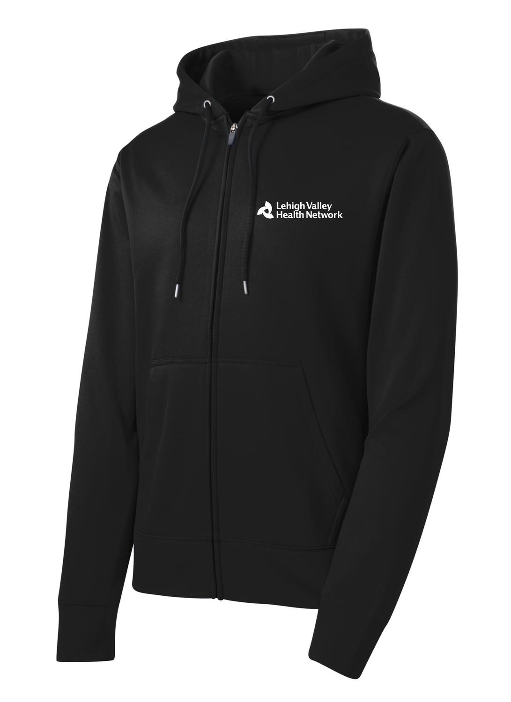 Sport-Tek® Sport-Wick® Men's Fleece Full-Zip Hooded Jacket