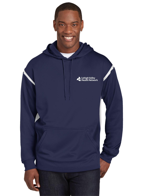 Sport-Tek® Tech Fleece Colorblock Hooded Sweatshirt