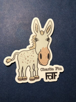 Charlie Fin Sticker