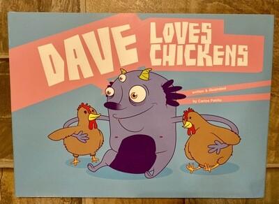 """""""Dave Loves Chickens"""" Children Book"""