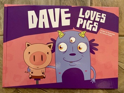 """Dave Loves Pigs"" Children Book"