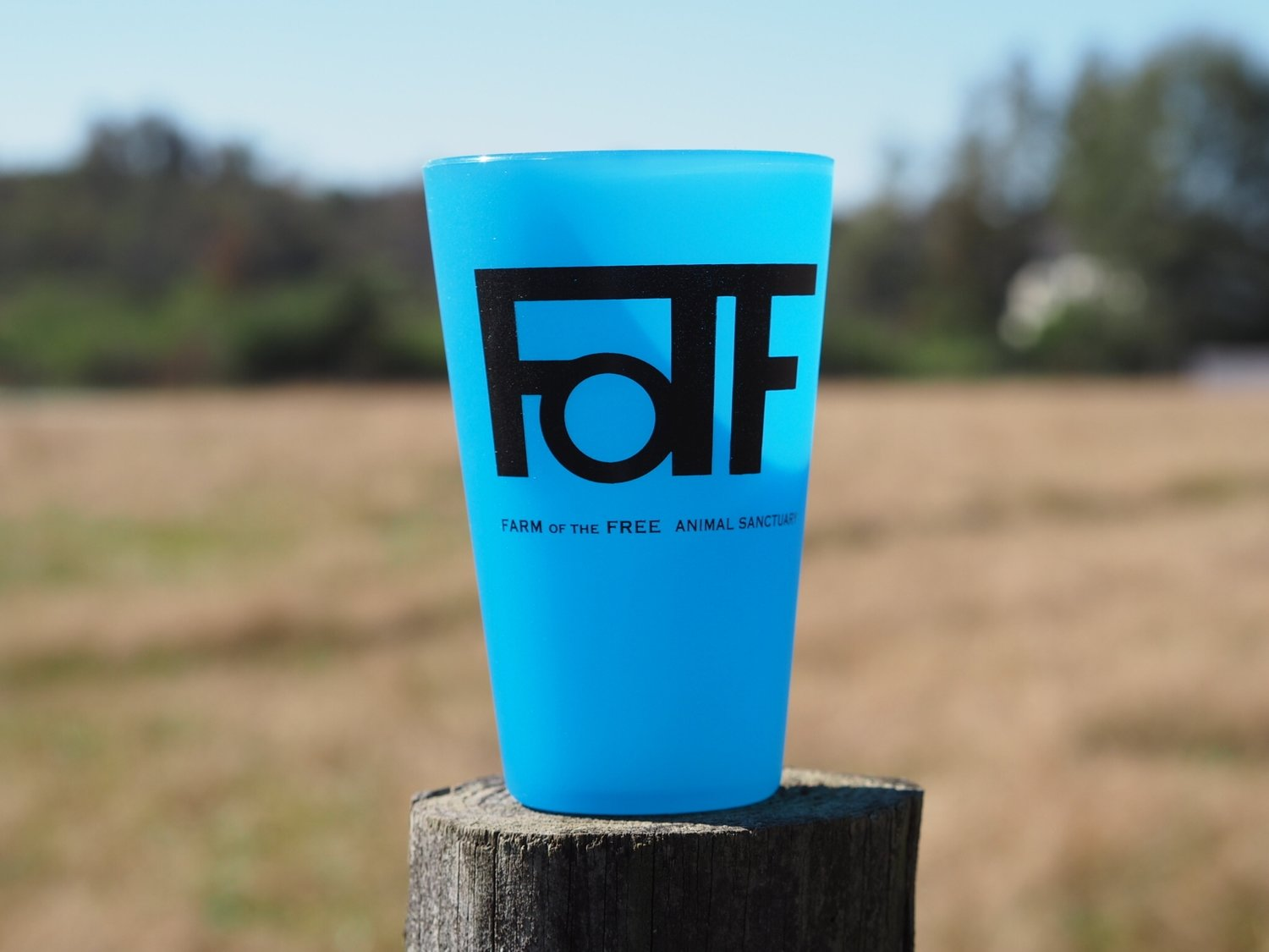 Blue FOTF Silicone Pint Cup