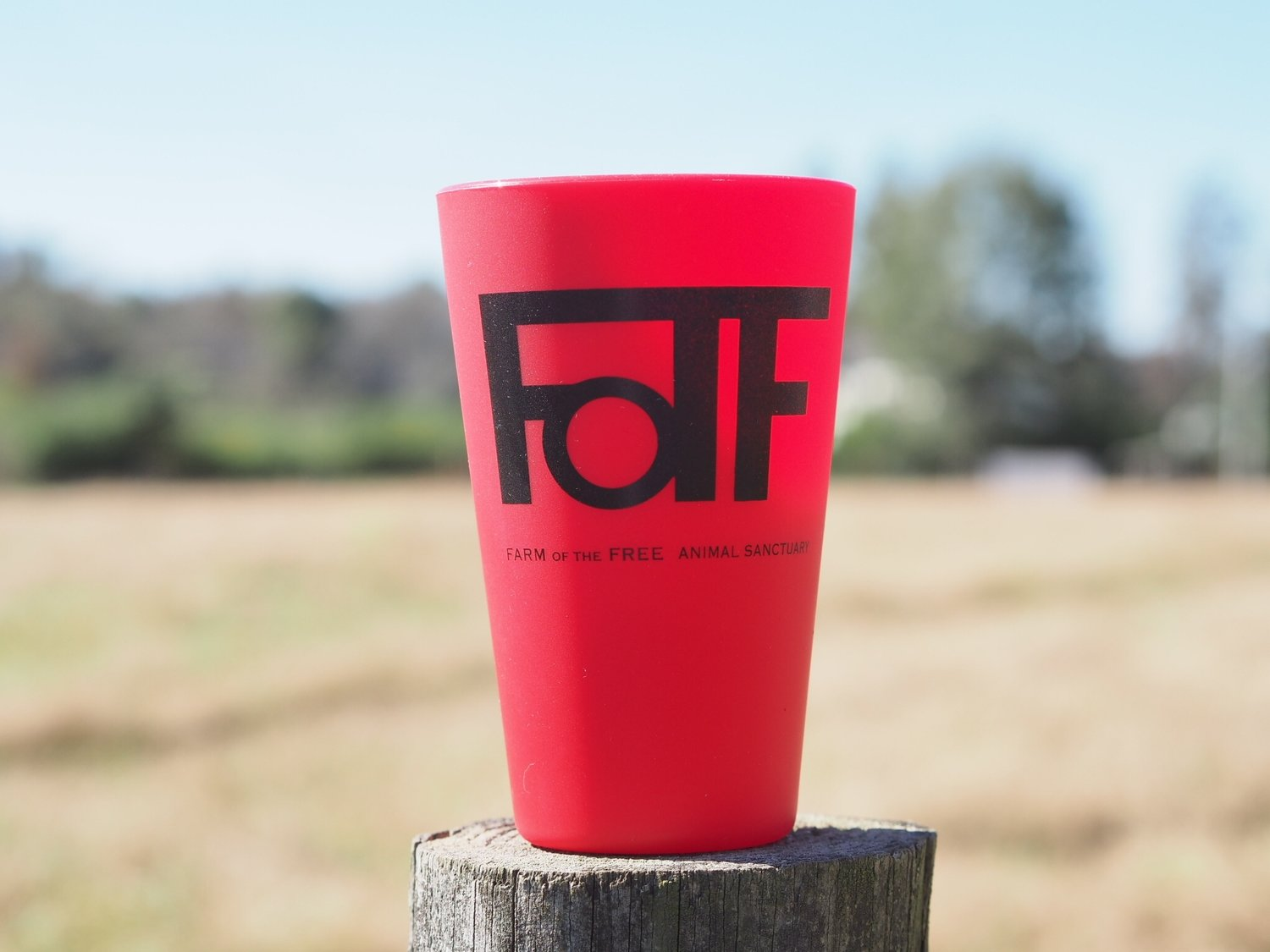 Red FOTF Silicone Pint Cup