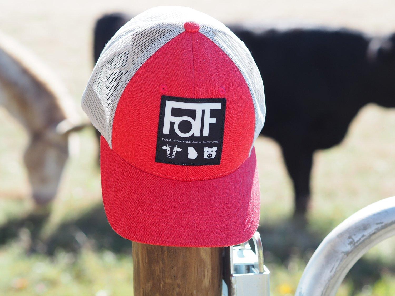 FOTF Trucker Hat (Heather Red / Light Grey)