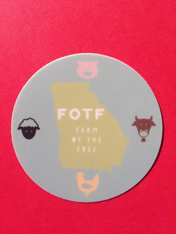 FOTF GA Logo - Round Stickers - Size 2x2
