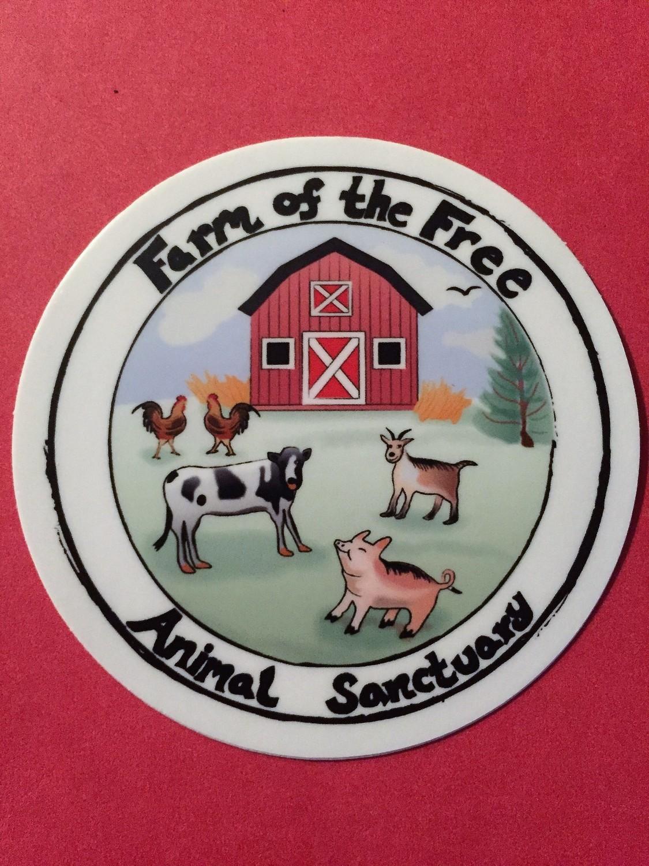 FOTF Logo - Round Stickers - Size 3x3