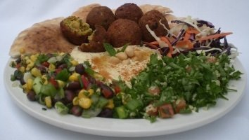 Falafel Over Salad Catering