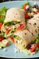 Greek Chicken Wrap