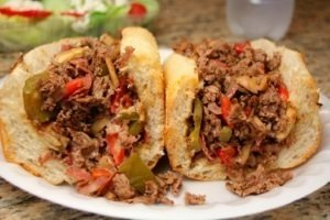 Steak Cheese w/ Mushrooms Onions Peppers Sub