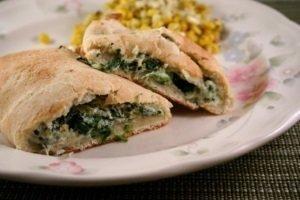 Spinach Mozzarella & Ricotta Calzone