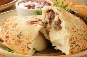 Marinated Steak Calzone