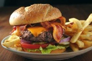 Bacon Cheddar Burger Plate