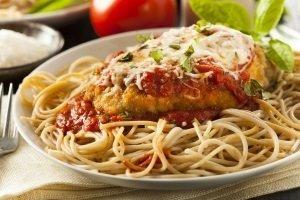 Chicken & Eggplant Parmesan Pasta