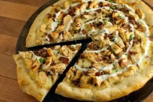 Bacon Chicken Ranch Pizza