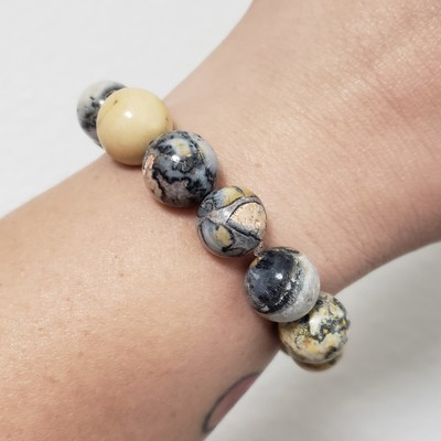 Bumblebee Jasper Beaded Bracelet
