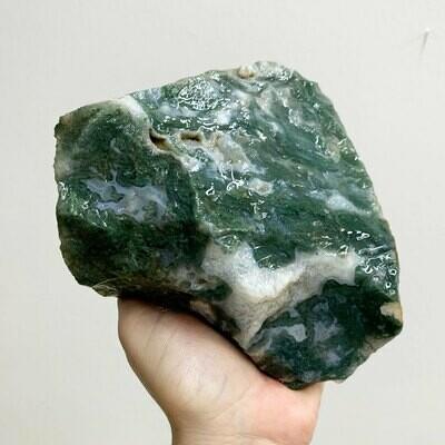 Moss Agate Rough – 3.82 pound piece