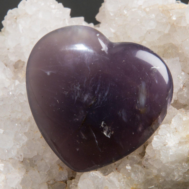 Purple Chalcedony Heart Cabochon