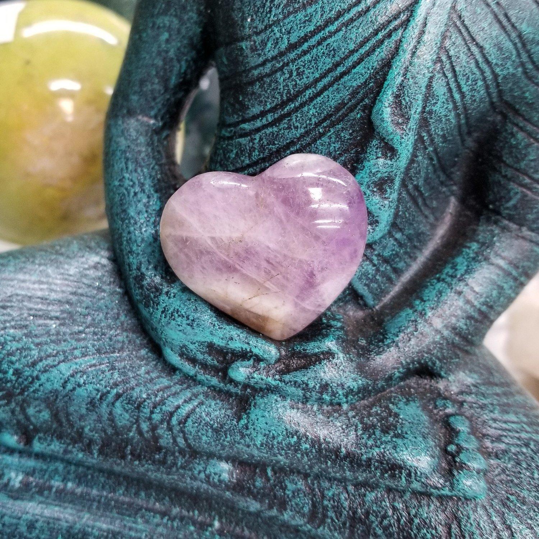 Polished Amethyst Heart