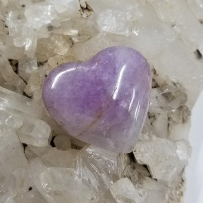 Polished Amethyst Heart