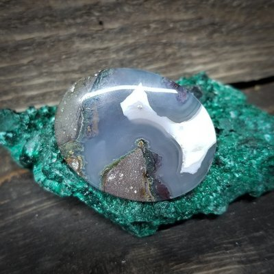 Indonesian Moss Agate Cabochon