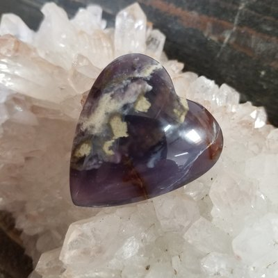 Purple Chalcedony Heart Palmstone
