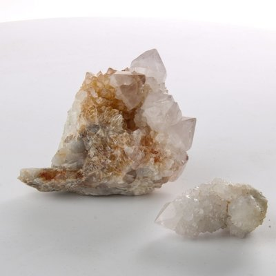 Spirit Quartz Crystal Clusters - Set of 2