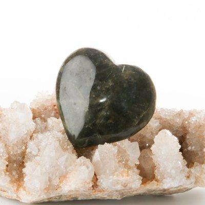 Heart Shaped Labradorite Palmstone