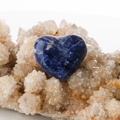 Sodalite Heart Shaped Palmstone